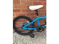 Boys/girls bmx bicycle in blue