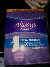ALWAYS DAILIES LARGE EXTRA PROTECT PACK