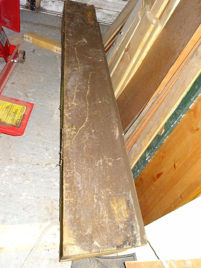 2 x solid oak beams / gate posts 6 foot long x 9.5 inch x 9.5 inch square - oak mantle £100 each
