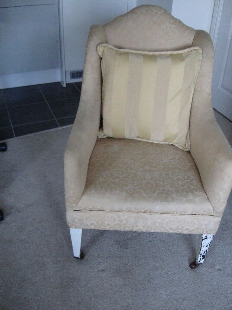 Pretty Compact Small Antique Armchair