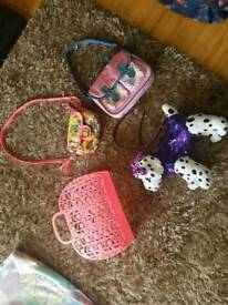 4 girls bags £10, excellent condition