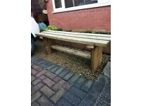 900mm TIMBER BENCH - brand new / oiled / delivered