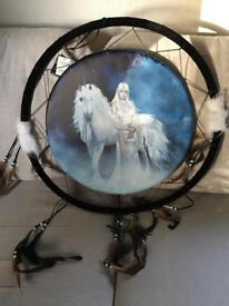 Unicorn and woman dream catcher
