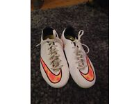 White Nike Mercuriel Football/Rugby Boots