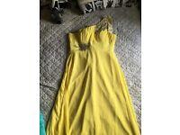 1 yellow bridesmaid dress never bin worn