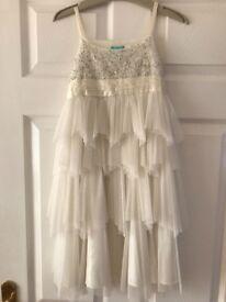 Girls age 6-7 year old cream Monsoon dress
