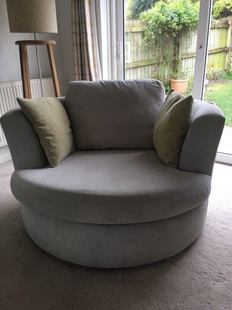 Wondrous Grey 3Seater Sofa Cuddler Chair And Storage Box 2Broken Sofa Cushion Zips In Crediton Devon Gumtree Bralicious Painted Fabric Chair Ideas Braliciousco