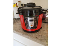 Cooks Essentials 4L Digital Pressure Cooker - Red