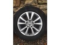 """VW Touareg T3 Genuine 18"""" Alloy Wheels (winter tyres)"""