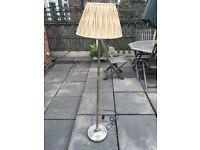 Antique brass effect floor lamp