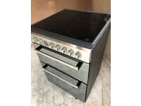 INDESIT DD60C2CX Double Electric Ceramic Cooker - Mirror Finish - Excellent Condition