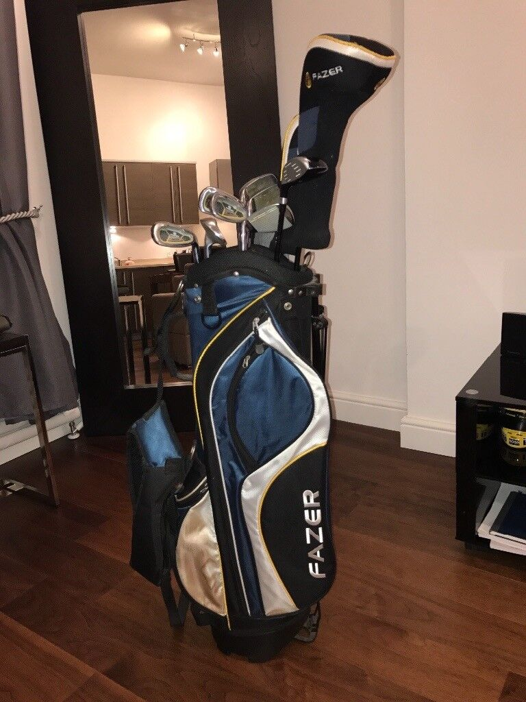 Men's right hand Fazer golf package set with stand bag