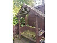 Wooden Garden Arbour previously painted