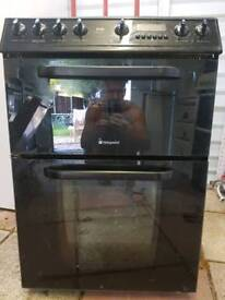 Black creda electric fan assisted cooker delivered and installed