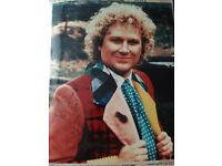 Colin Baker doctor who signed photo