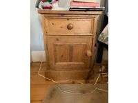 solid wooden bedside cabinets (two available)