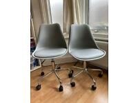 Habitat Ginnie Desk / Office Chairs - nearly new condition