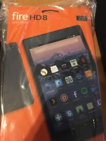 Amazon Fire HD 8 with ALEXA 7th generation - 16gb with special offers (NEW IN WRAP) COLLECTION ONLY