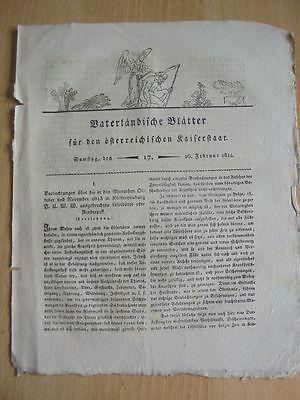 1814 17 Klosterneuburg Rinderpest Schloss Thernberg Erzherzog Johann von Retzer