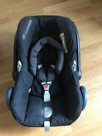 Maxi-Cosi Cabriofix Group 0+ Car Seat, Black Raven including rain cover