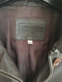 Marks and Spencer Leather three quarter jacket