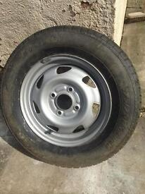 Ford 13 inch steel wheel and new tyre - 175/70/R13 -82H