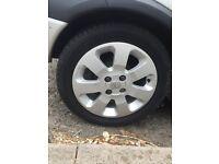 """15"""" Vauxhall corsa alloy wheels great tyres!"""