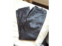 Brown Leather Trousers size 10