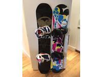 His & hers snowboards Capita Union Rossignol