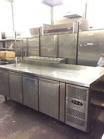 Commercial bench fridge, under counter fridge 2.23 m