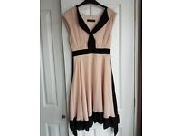 Dorothy Perkins pink cocktail party dress size 12