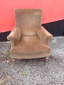 Antique armchair for reupholstering