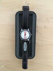 ***ADIDAS WATCH 10-0053B , LEATHER STRAPS , UNWANTED GIFT, IMMACULATE CONDITION + ORIGINAL CASE***