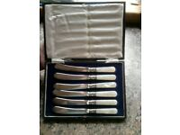 Vintage cutlery for butter in original box