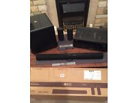 Denon AVR-x500 with Kef PSW 2010 Sub and Kef HTF7003 sound bar and two speakers