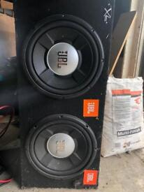 JBL Subwoofers 1200W mounted in box