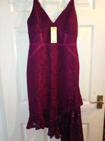 New Lipsy Lace frill Dress size 10