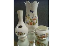 3 Aynsley Cottage Garden China Ornaments