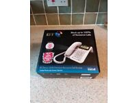 BT 2600 corded phone and answer machine with call blocker. £15