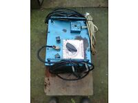 Pickard Bantam Electric Arc welder, with 20 metres of stick hlder cable.