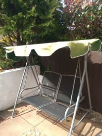 Garden two seater swing chair