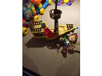 Jack and the Netherland pirate ship and large Jake figure