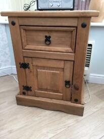 Solid wood side cabinet cupboard drawer