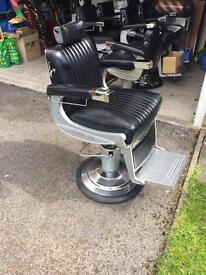 One Belmont Apollo barbers chair with headrest