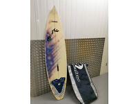Signed Rusty Preisendorfer Surf Board 1998 - Shortboard - To Repair