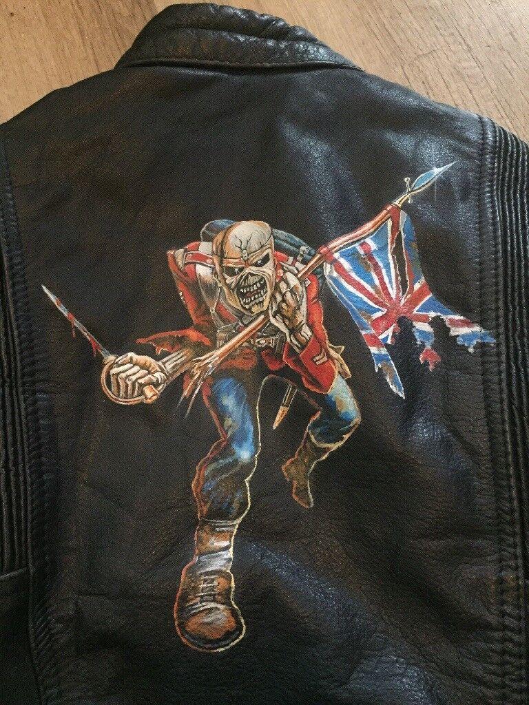 Child Leather Bike Jacket & Bottoms (Iron Maiden)