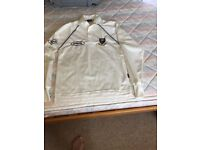 Long sleeved cricket top size large boys