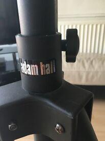 2 Adam Hall Black Powder Coated Speaker Stands
