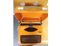 Typewriter retro Adler Tippa Jaffa orange 1960's 70's.