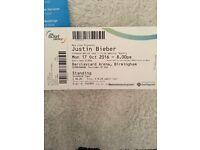 1 Justin Bieber Birmingham 17th October 2016